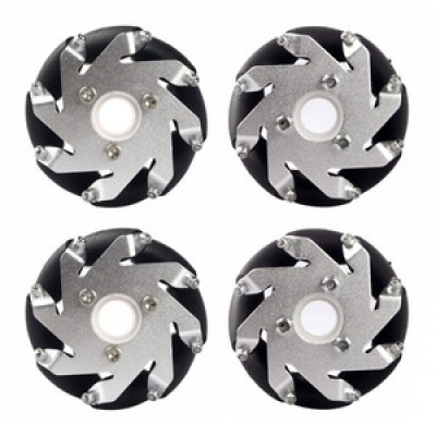 60MM ALUMINUM MECANUM WHEELS SET with 6MM HUB